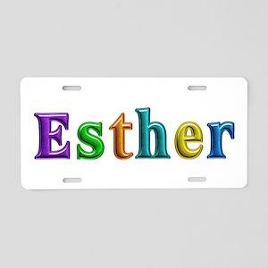 Esther Shiny Colors Aluminum License Plate