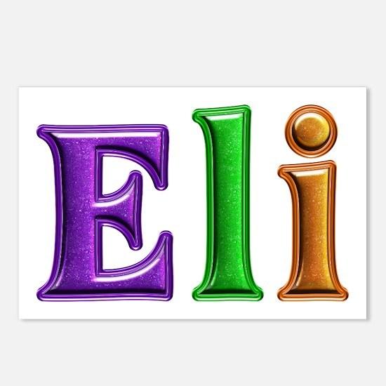 Eli Shiny Colors Postcards 8 Pack