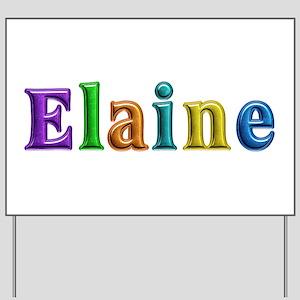 Elaine Shiny Colors Yard Sign