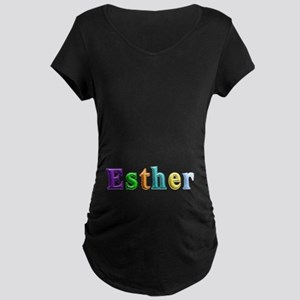 Esther Shiny Colors Maternity Dark T-Shirt