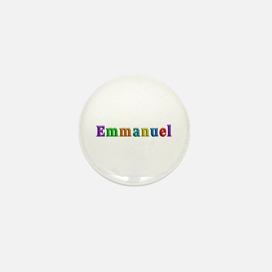 Emmanuel Shiny Colors Mini Button