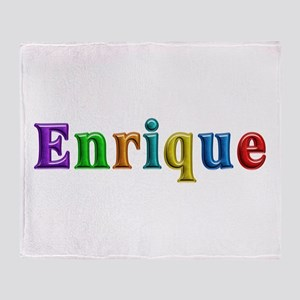 Enrique Shiny Colors Throw Blanket