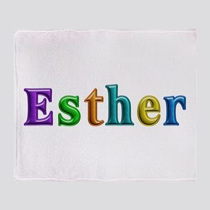 Esther Shiny Colors Throw Blanket