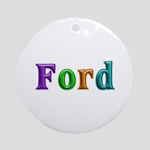 Ford Shiny Colors Round Ornament
