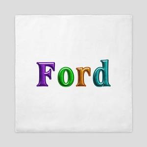 Ford Shiny Colors Queen Duvet