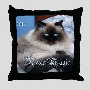 2014 Coco Calendar Cover Throw Pillow