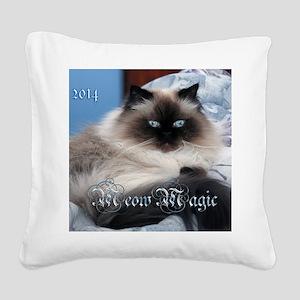 2014 Coco Calendar Cover Square Canvas Pillow