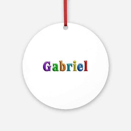 Gabriel Shiny Colors Round Ornament