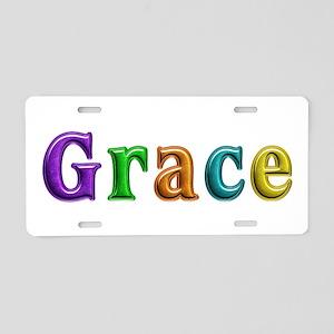 Grace Shiny Colors Aluminum License Plate