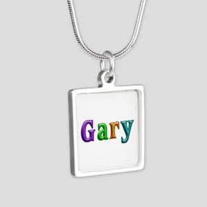 Gary Shiny Colors Silver Square Necklace