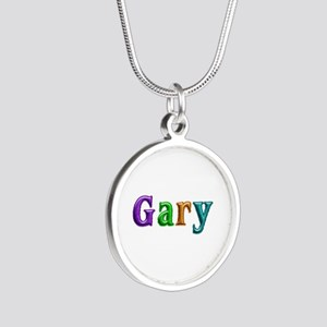 Gary Shiny Colors Silver Round Necklace