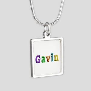 Gavin Shiny Colors Silver Square Necklace