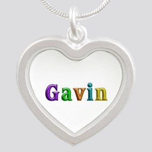 Gavin Shiny Colors Silver Heart Necklace
