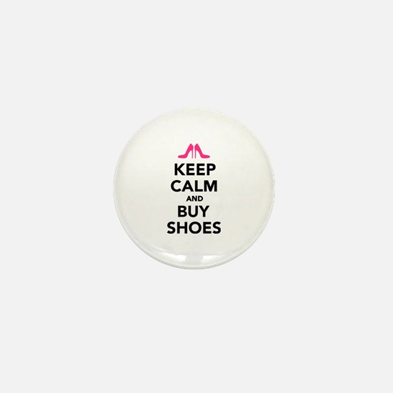 Keep calm and buy shoes Mini Button