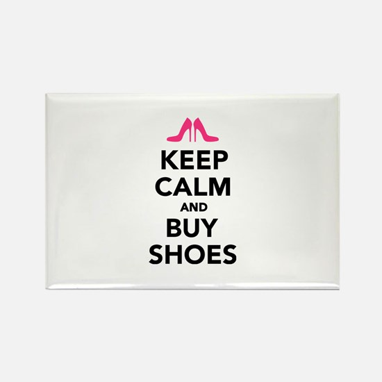 Keep calm and buy shoes Rectangle Magnet (10 pack)