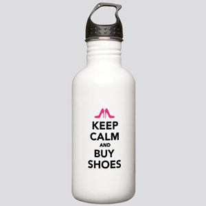 Keep calm and buy shoes Stainless Water Bottle 1.0