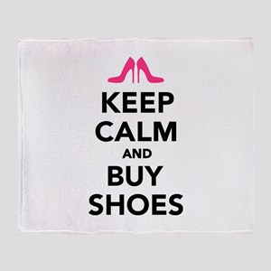 Keep calm and buy shoes Throw Blanket