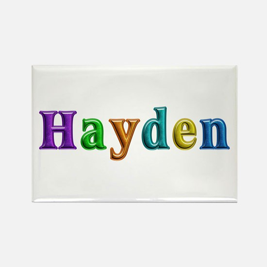 Hayden Shiny Colors Rectangle Magnet