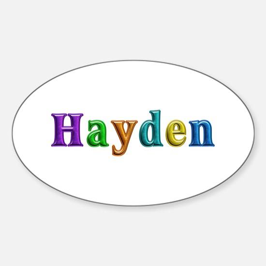 Hayden Shiny Colors Oval Decal