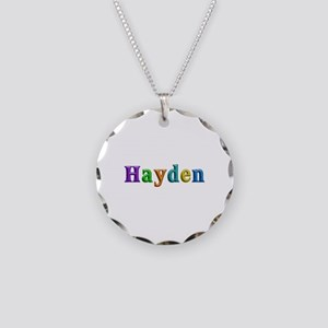 Hayden Shiny Colors Necklace Circle Charm