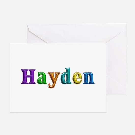 Hayden Shiny Colors Greeting Card