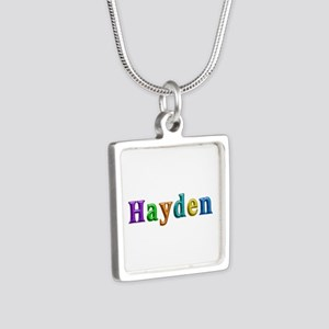 Hayden Shiny Colors Silver Square Necklace