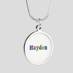 Hayden Shiny Colors Silver Round Necklace