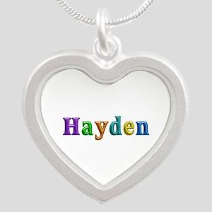 Hayden Shiny Colors Silver Heart Necklace
