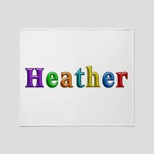 Heather Shiny Colors Throw Blanket