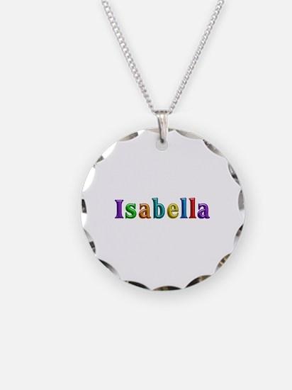 Isabella Shiny Colors Necklace Circle Charm