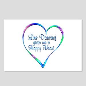Line Dancing Happy Heart Postcards (Package of 8)
