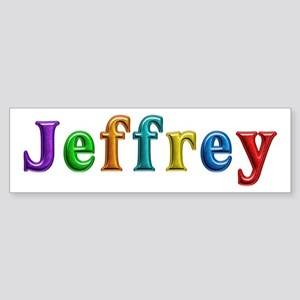 Jeffrey Shiny Colors Bumper Sticker