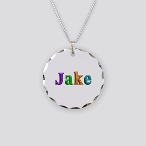 Jake Shiny Colors Necklace Circle Charm