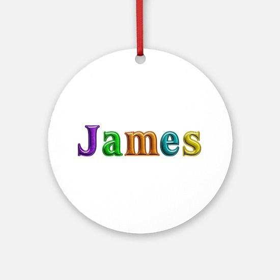 James Shiny Colors Round Ornament