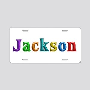 Jackson Shiny Colors Aluminum License Plate