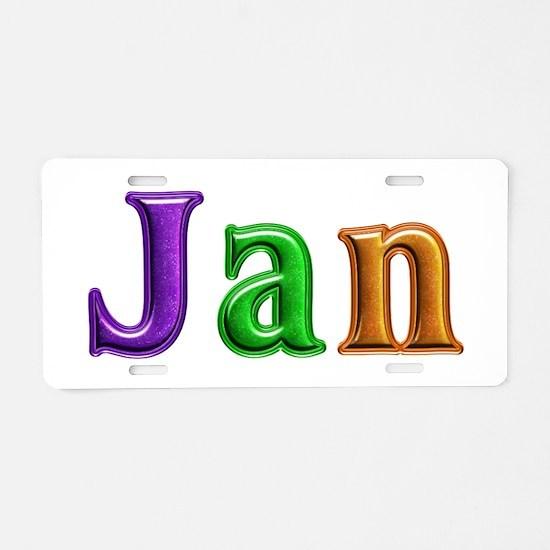 Jan Shiny Colors Aluminum License Plate