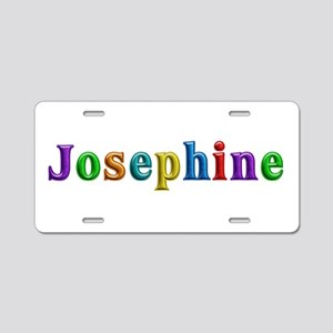 Josephine Shiny Colors Aluminum License Plate
