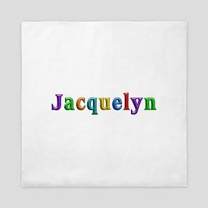 Jacquelyn Shiny Colors Queen Duvet