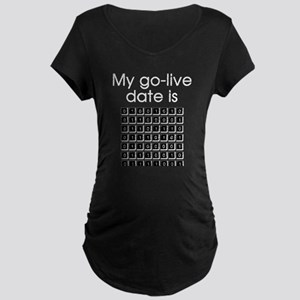 Binary Due Date January Maternity Dark T-Shirt