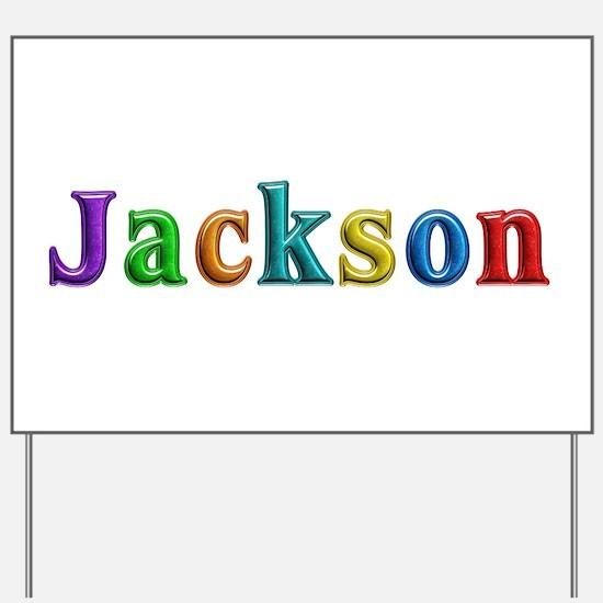 Jackson Shiny Colors Yard Sign