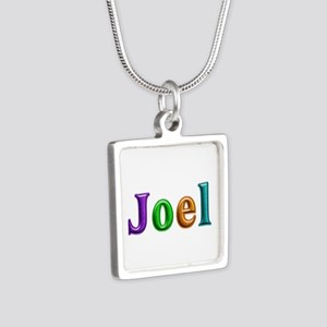 Joel Shiny Colors Silver Square Necklace
