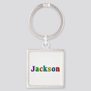 Jackson Shiny Colors Square Keychain