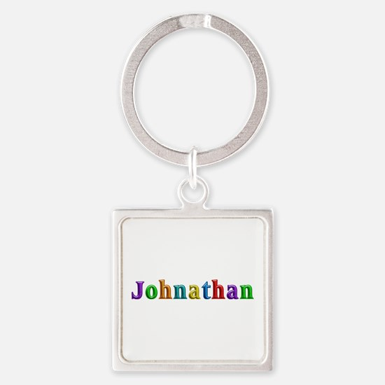 Johnathan Shiny Colors Square Keychain