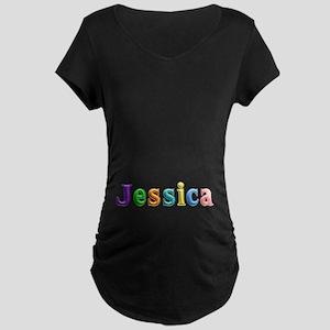 Jessica Shiny Colors Maternity Dark T-Shirt