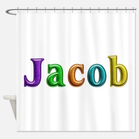 Jacob Shiny Colors Shower Curtain
