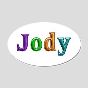 Jody Shiny Colors 20x12 Oval Wall Decal