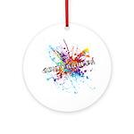 Rainbow Splash Genderqueer Ornament (Round)