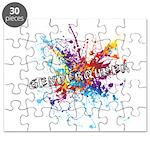 Rainbow Splash Genderqueer Puzzle