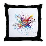 Rainbow Splash Genderqueer Throw Pillow