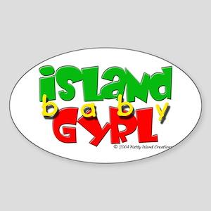 Island Baby Gyrl Oval Sticker